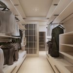 Big modern walk-in dressing room