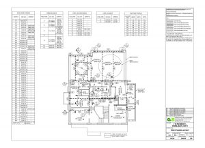 ANBM first floor layout construction plan for a house renovation