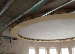Feature round ceiling for a ANBM house renovation