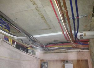 ANBM working on rewiring and plumbing for a house rebuild