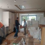 Annabella Nassetti & her team renovating a kitchen