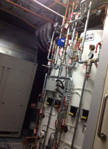 ANBM replaced boiler and plumbing for a house renovation project