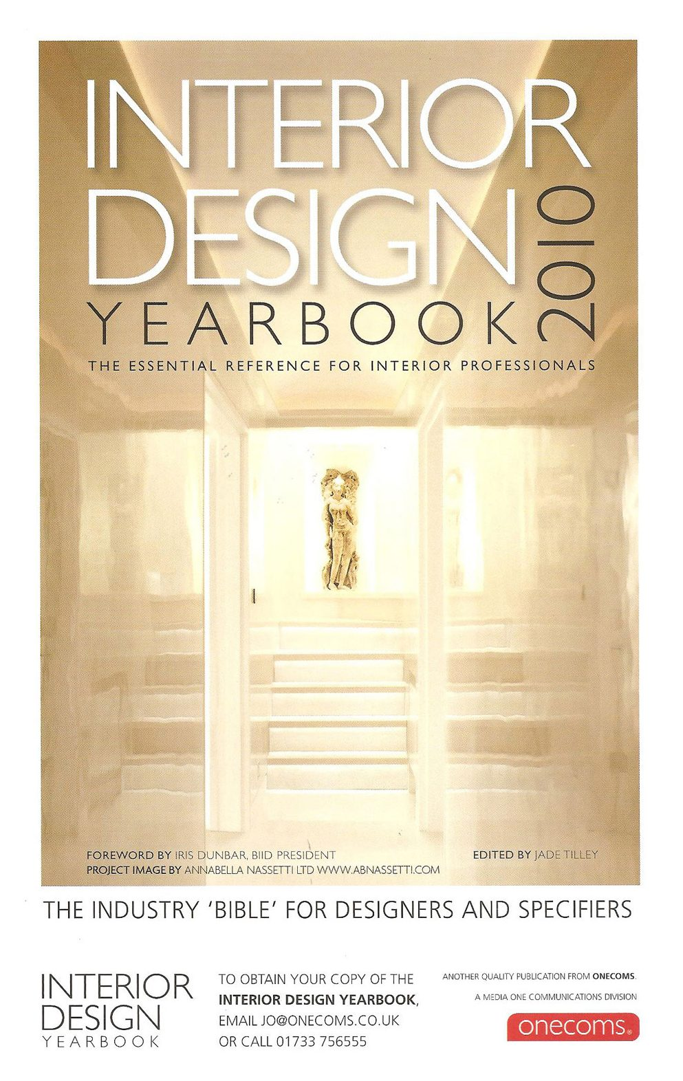 annabella nassetti on cover of interior design yearbook