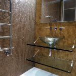 Contemporary bathroom with glass basin