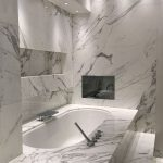 Marble bath with TV screen