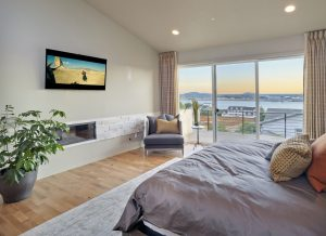 Bedroom with San Diego Bay view