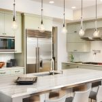 Modern kitchen with island in San Diego