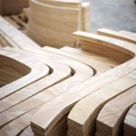 Pieces of curved wood for house construction project