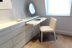 Dressing table included in storage