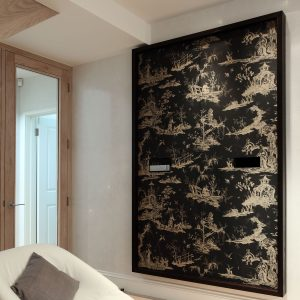 Asian pattern covered cupboard