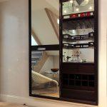 Bespoke hidden drinks cabinet & storage