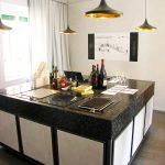 Modern mosaic kitchen island