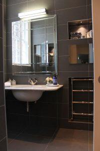 Modern bathroom with classic sink