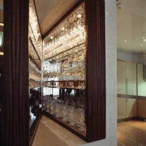 Bespoke wooden glass cabinet
