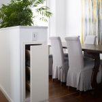 Hidden wine storage cabinet
