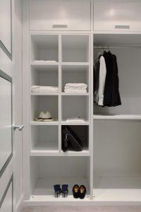 Bespoke white walk-in wardrobe
