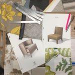 Mood board for interior design project