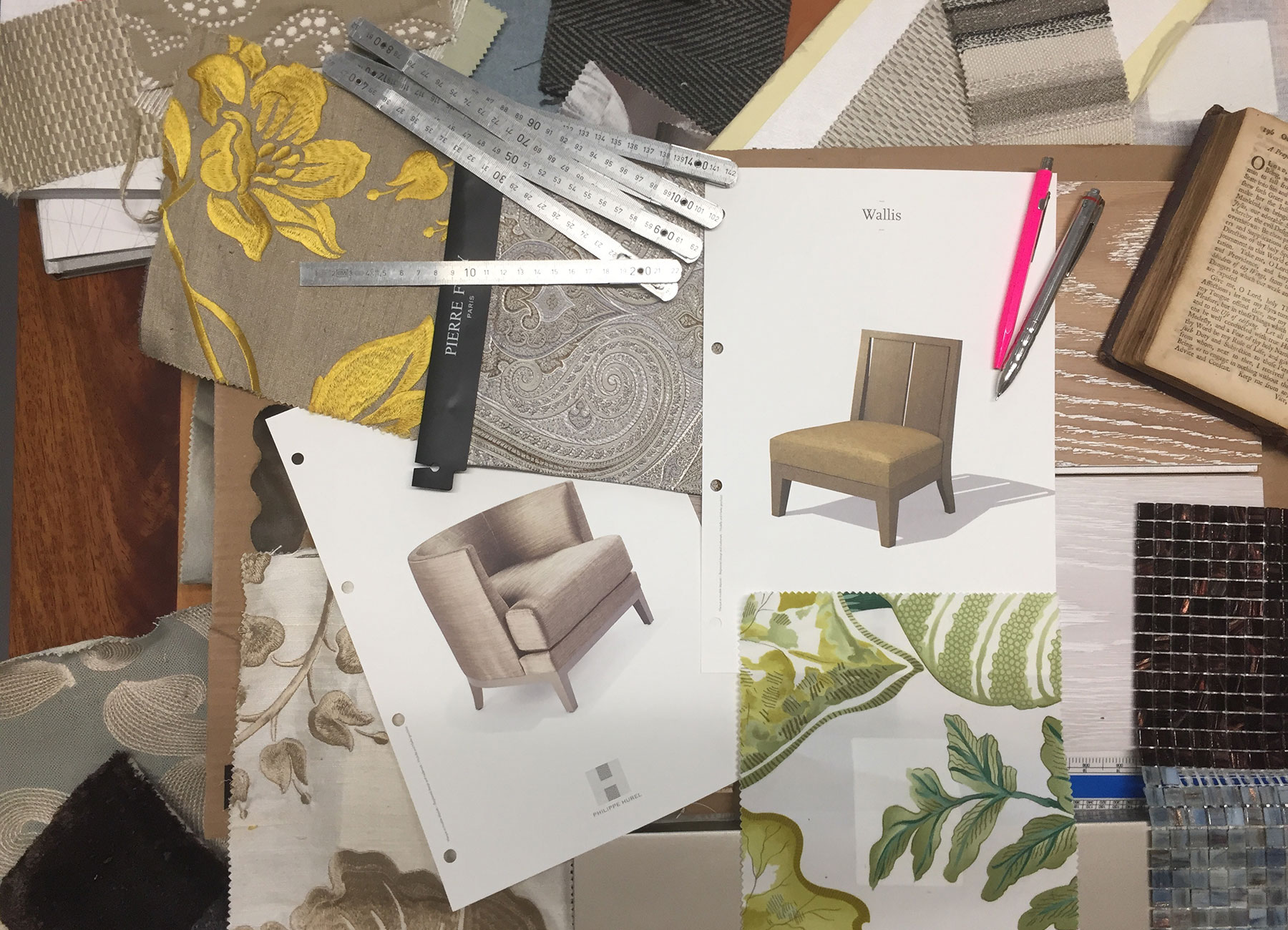 Mood board for interior design project