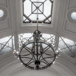Chandelier in period property, London