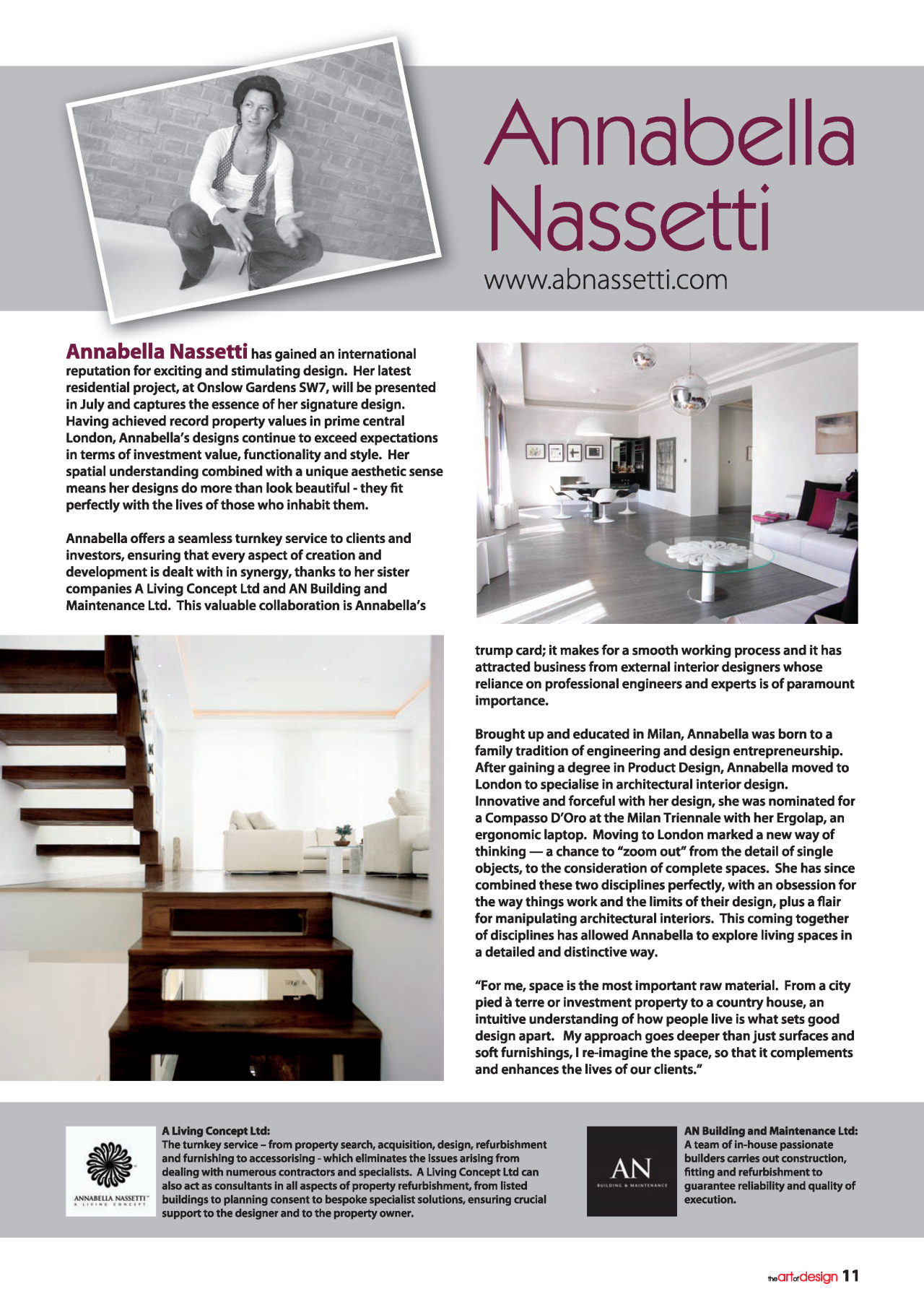 Complete Interior Design Consultant in The Art Design Mag