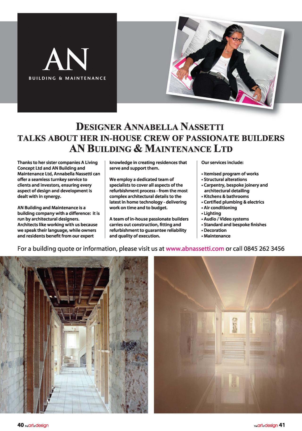 the art and design magazine annabella nassetti. Black Bedroom Furniture Sets. Home Design Ideas