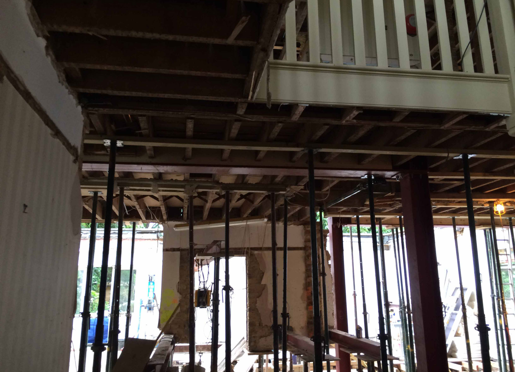ANBM levelling the ceiling for a house construction project