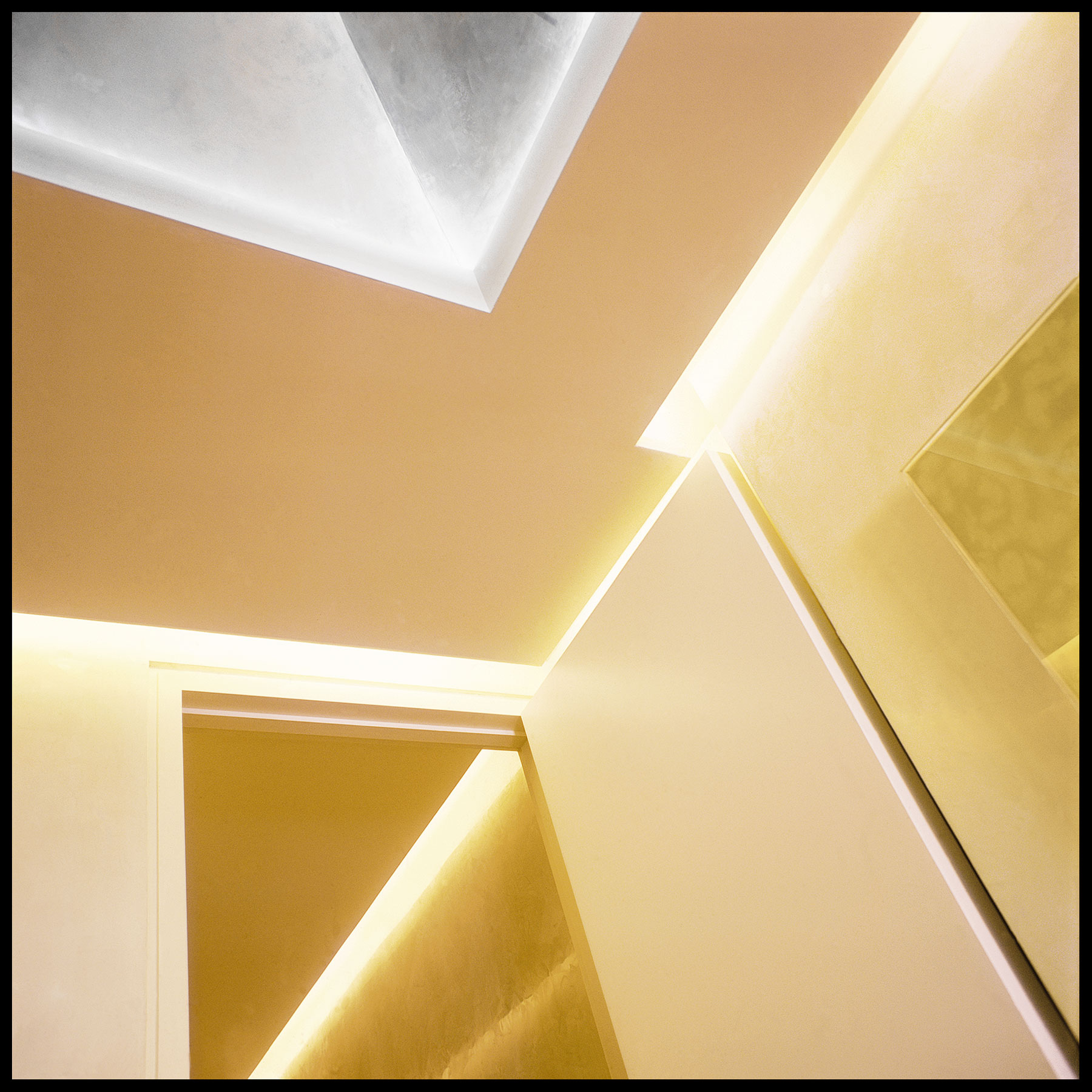 Modern lighting design integrate into walls & ceilings