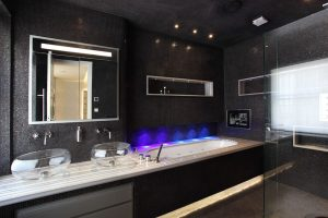 A Modern Black bathroom