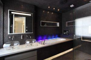 A Modern Black bathroom