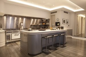 Steel Kitchen in Luxury Home