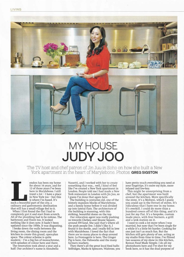 Annabella Nassetti on City A.M.'s luxury lifestyle magazine - project for Celebrity Chef Judy Joo - page 1