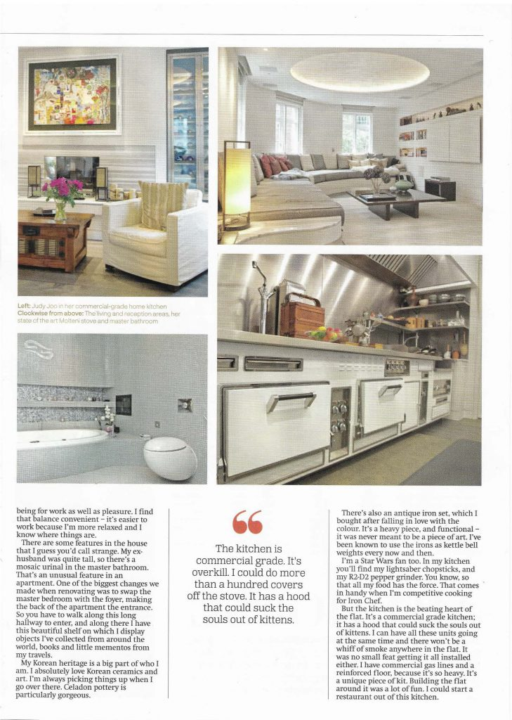 Annabella Nassetti on City A.M.'s luxury lifestyle magazine - project for Celebrity Chef Judy Joo - page 2