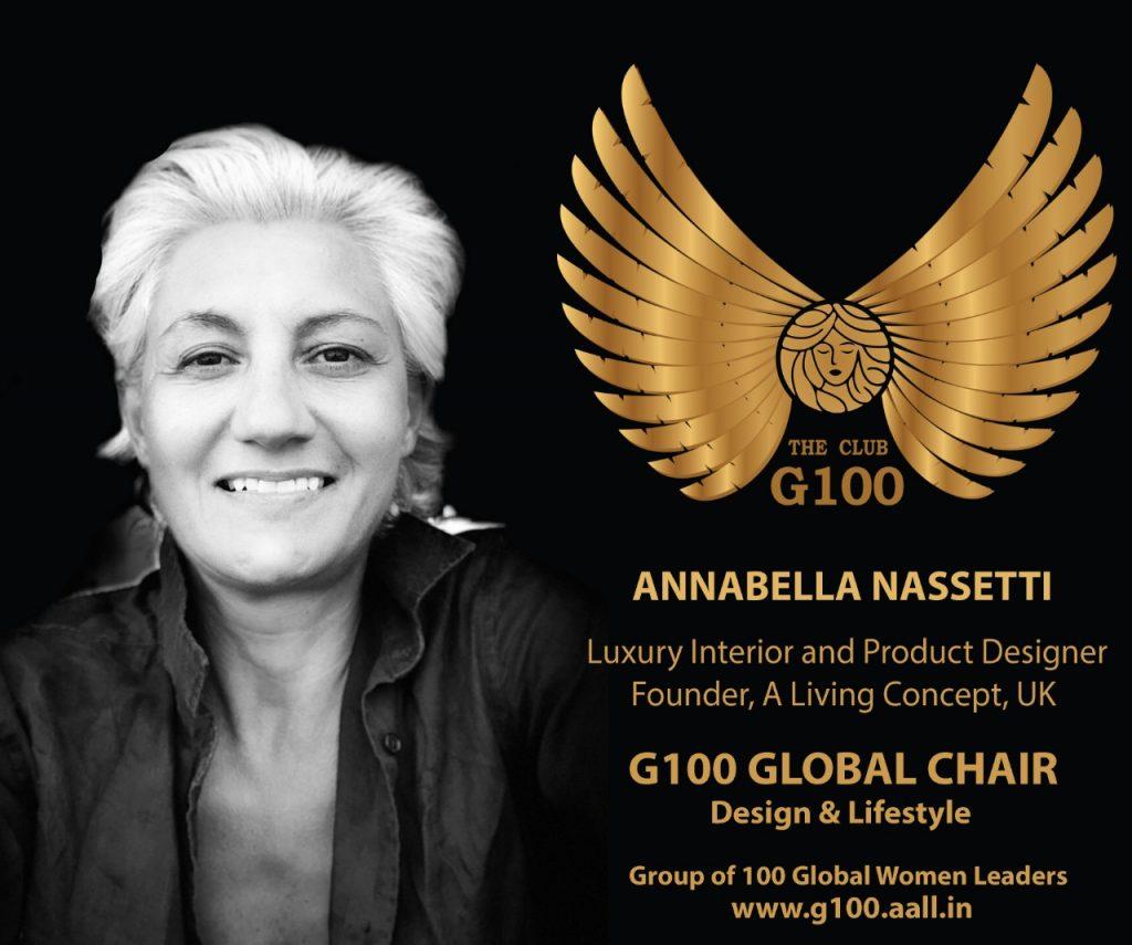 Annabella Nassetti - the g100 club - luxury interior and product designer